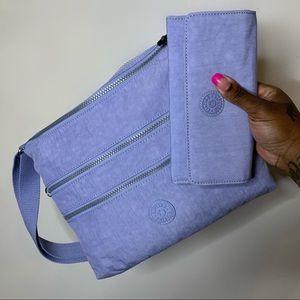 Kipling Light Purple Alvar +Matching Wallet (NWOT)